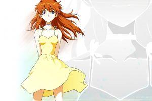 asuka langley soryu anime simple background neon genesis evangelion
