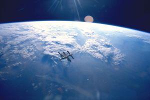 atmosphere space mir mir space station earth
