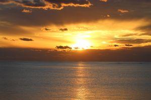 australia sunlight sunset nature water sea
