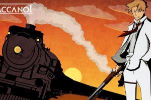 baccano! anime boys anime train