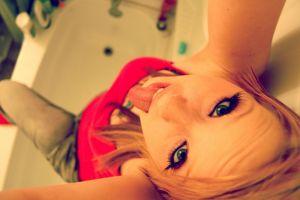 bathtub tongues lips bath women