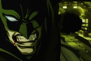 batman comics mask blood artwork