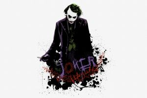batman the dark knight white background movies messenjahmatt joker paint splatter