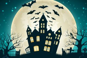 bats artwork halloween
