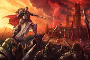 battle fantasy girl fantasy art