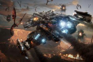 battlecruiser zerg terrans starcraft ii video games starcraft aliens spaceship fantasy art