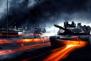battlefield 3 battlefield video games m1-abrams tank orange