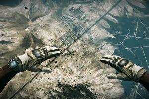 battlefield battlefield 3 video games war soldier desert gloves parachutes