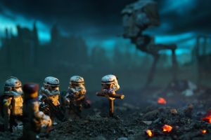 battlefield star wars lego star wars lego at-st dark miniatures stormtrooper toys depth of field