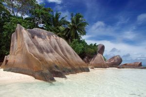 beach nature rock tropical