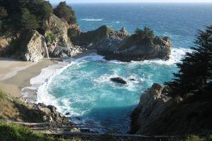 beach nature sea horizon bay coast landscape rocks