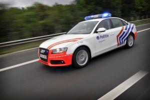 belgium police cars police car audi road