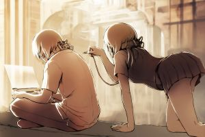 bent over anime bent over artwork love anime girls
