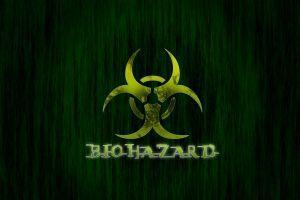 biohazard digital art green