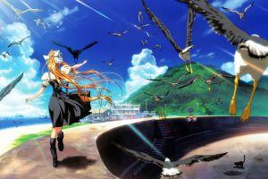 birds anime girls anime air (anime) air