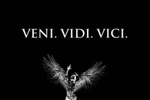black background angel latin monochrome minimalism typography zyzz veni vidi vici