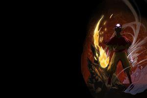 black background avatar: the last airbender simple background aang