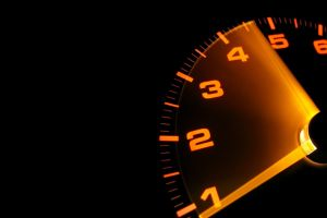 black background car speedometer