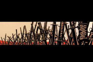 black background fantasy art katana samurai artwork sword samurai champloo simple background asia