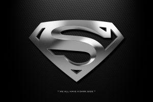 black background minimalism superman