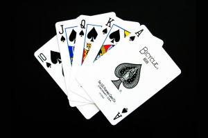 black background spades minimalism cards