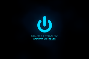 black background turquoise texture typography text power buttons simple digital art