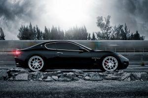 black cars maserati granturismo maserati vehicle car