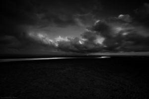 black dark monochrome landscape clouds