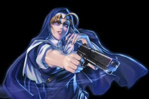 black lagoon gun anime girls eda