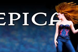 black pants gothic epica simone simons women redhead redhead symphonic metal heavy metal singer band logo