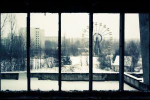black pripyat abandoned ruin ukraine old chernobyl