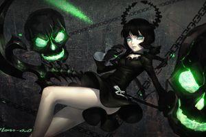 black rock shooter dead master anime girls anime