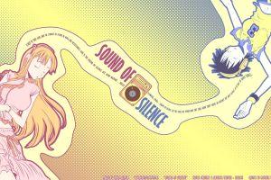 bleach headphones inoue orihime typography anime dots anime girls