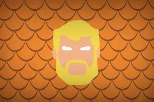 blo0p minimalism justice league dc comics superhero aquaman hero