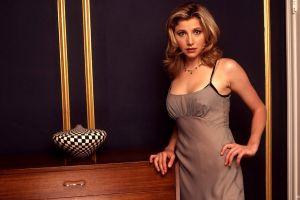blonde actress scrubs women
