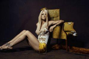 blonde chair legs women on the floor model armchairs