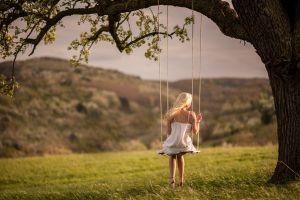 blonde model women outdoors women outdoors swings