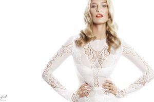 blonde white background model women bar refaeli