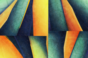 blue abstract pattern yellow