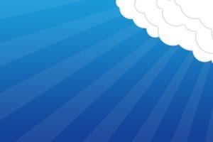 blue background clouds minimalism digital art