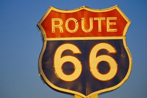 blue background signs simple background numbers route 66