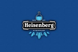blue background typography breaking bad heisenberg blue
