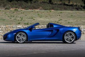 blue cars cabriolet mclaren mc4-12c sports car car