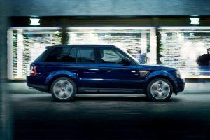 blue cars car range rover suv