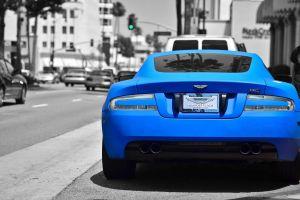 blue cars photoshop car aston martin db9 aston martin sports car matte paint