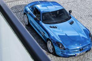 blue cars vehicle mercedes benz mercedes sls car