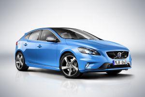 blue cars volvo v40 car