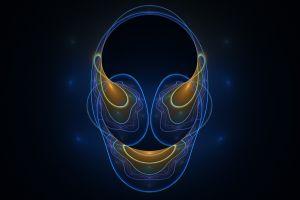 blue face digital art
