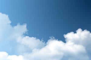 blue white nature sky clouds