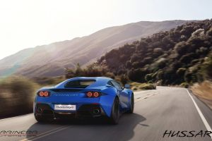 blurred blue cars road motion blur vehicle car arrinera automotive s.a. arrinera hussarya